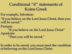 conditional if statements of koine greek1