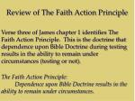 review of the faith action principle