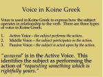 voice in koine greek1