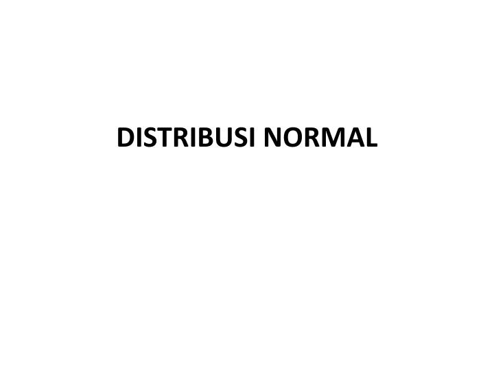 distribusi normal n.
