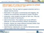 advantages of using serious games in school stapelton 2004 behr klimmt vorderer 2008