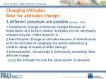 changing attitudes base for attitudes change