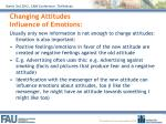 changing attitudes influence of emotions