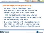 disadvantages of using e learning