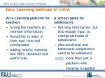 new learning methods in cava