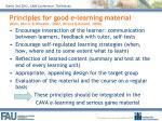 principles for good e learning material dain dincic wheeler 2007 rivera roland 2008