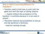 why a cava e learning platform for teachers