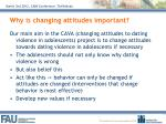 why is changing attitudes important
