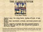the class system