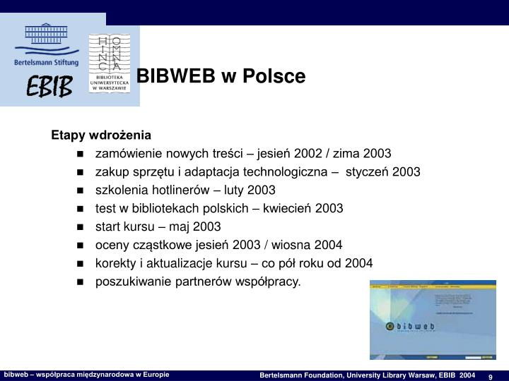 BIBWEB w Polsce