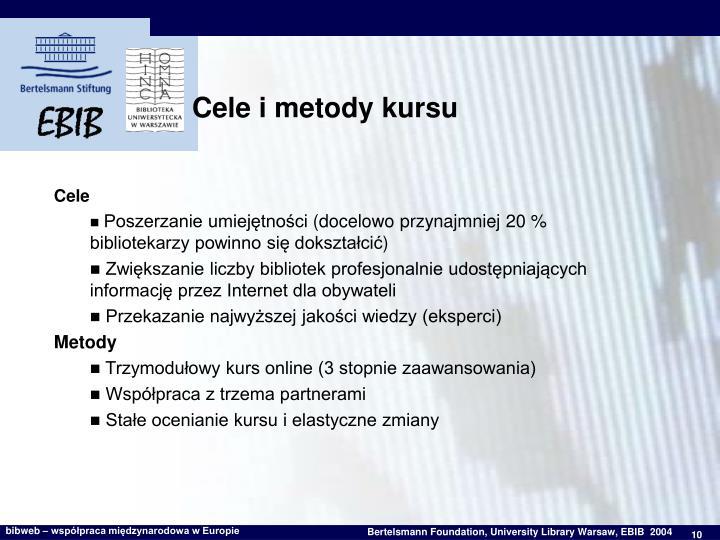 Cele i metody kursu