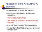 application of the ansi naspo standard