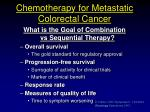 chemotherapy for metastatic colorectal cancer
