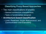 classifying proxy based approaches1