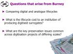 questions that arise from burney