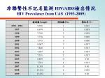 hiv aids hiv prevalence from uas 1993 2009