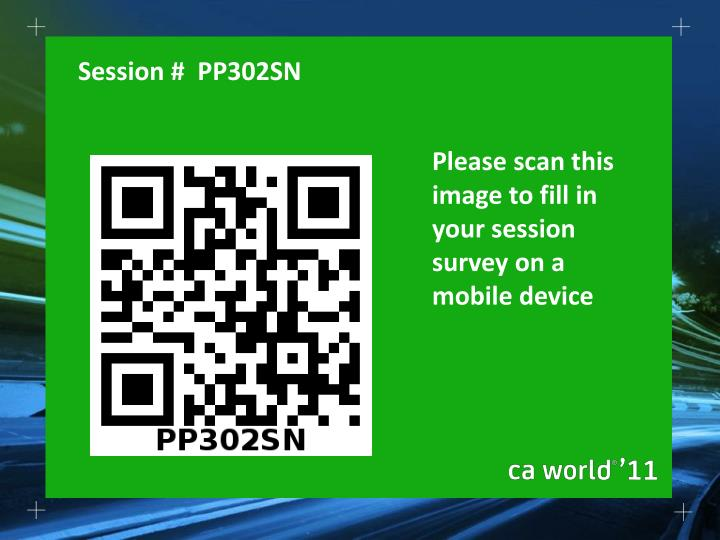 Please scan this image to fill in your session survey on a mobile device