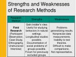 strengths and weaknesses of research methods3