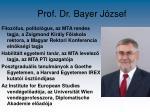 prof dr bayer j zsef