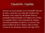 claustrillo capillas