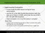 implementation and experimental evaluation 2 5