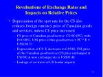 revaluations of exchange rates and impacts on relative prices2