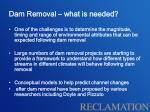 dam removal what is needed