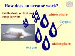 how does an aerator work