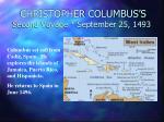 christopher columbus s second voyage september 25 1493