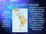 columbus s high voyage