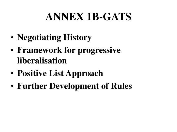 ANNEX 1B-GATS