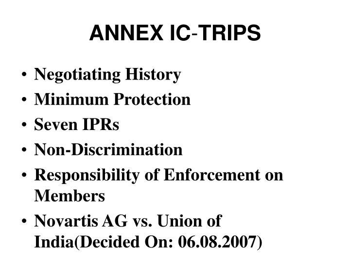ANNEX IC
