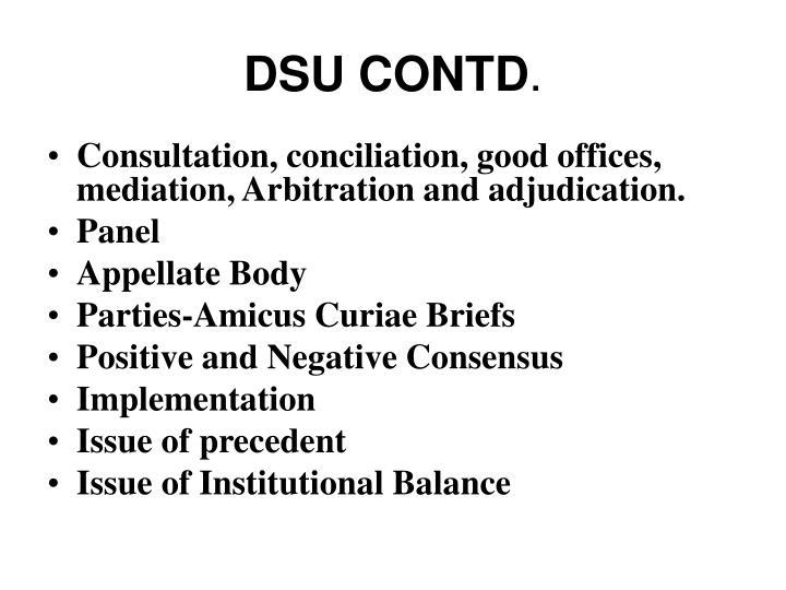 DSU CONTD
