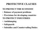 protective clauses