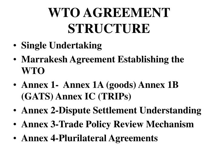 Wto agreement structure