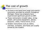 the cost of growth