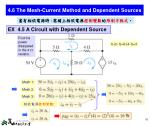 4 6 the mesh current method and dependent sources