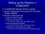 setting up the register in comcash