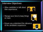 interview objectives