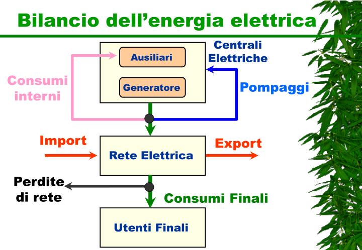 Bilancio dell'energia elettrica