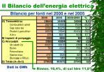 il bilancio dell energia elettrica