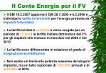 il conto energia per il fv