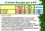 il conto energia per il fv1