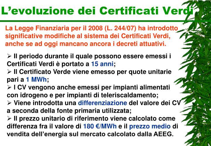 L'evoluzione dei Certificati Verdi