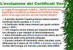 l evoluzione dei certificati verdi