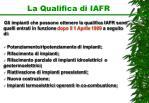 la qualifica di iafr1