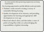 so what specific lifelong learning programmes are being implemented