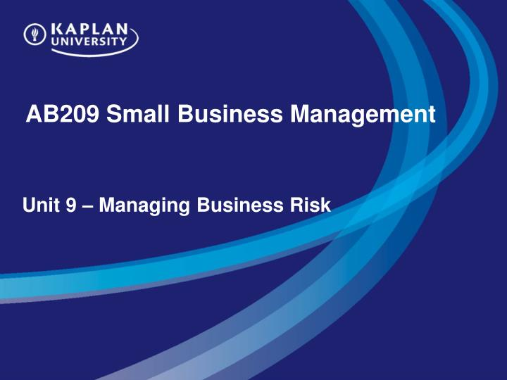 ab209 small business management n.