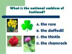 what is the national emblem of scotland