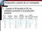 producci n y precio de un monopolio1